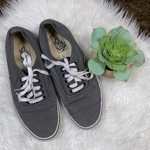 Vans Gray Lace Up Low Top Skate Sneakers Sz 8.5